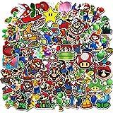 200 Pcs Pegatinas Coche Stickers de Super Mario Bros de Vinilo a Prueba de Agua Para Ordenador Portátil Aesthetic Skate Moto Decorativas Bicicleta Sticker Pack