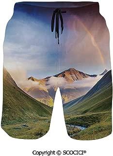 SCOCICI Swim Trunks Beach Pants Shorts Triangular Shapes in Symmetrical Order w