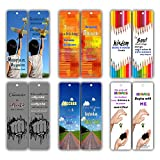 Smart Quotes About Wisdom Attitude Character Success Kindness Future Bookmarks (60-Pack) for Kids, Teens, Boys, Girls - Great Books Reading Rewards Incentives for Kids Boys Girls Classroom Supplies