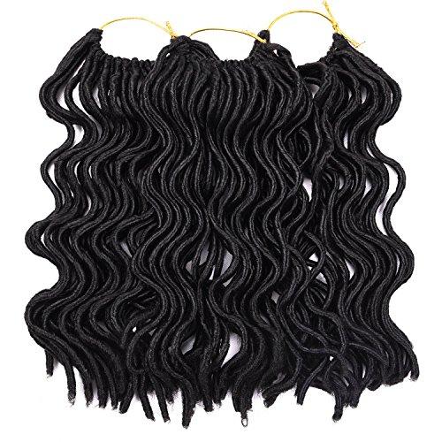 Silike bouclés imitation Locs Lo8loc91025 25,4 cm (3 Pièces) court Crochet ondulés imitation Locs Lo8loc91025 Dreadlocs(#1B)