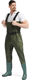 Funsraying Fishing Waders for Men with Boots Chest Waders Hip Waders for Mens and Womens Waiters Fly Fishing Hunting Waders for Women PVC&Nylon