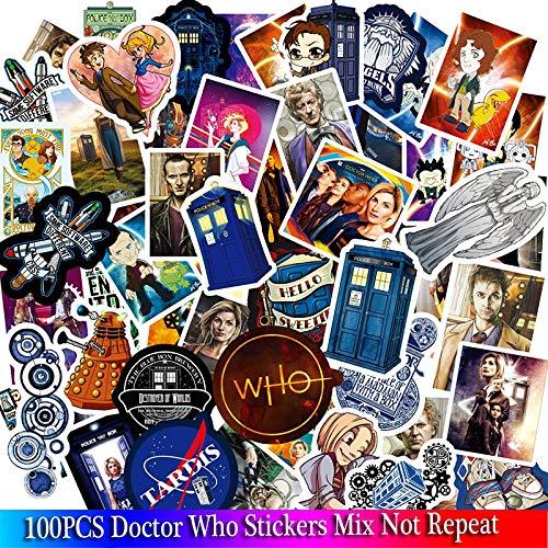 WOCAO 100 PZ Doctor Who Adesivi Serie TV Per Bagagli Auto Computer Portatile Notebook Decal Frigorifero Skateboard Sticker Cartoon Adesivi