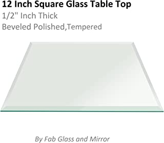Fab Glass and Mirror Clear Square 12