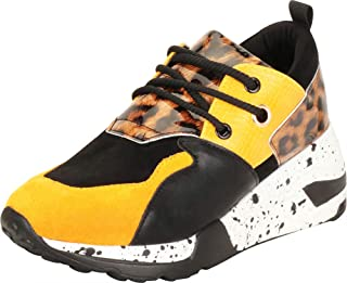 Cambridge Select Women's Ugly Dad Retro 90s Colorblock Lace-Up Chunky Wedge Fashion Sneaker