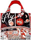 LOQI Artist Moon Reusable Shopping Bag, Multicolor
