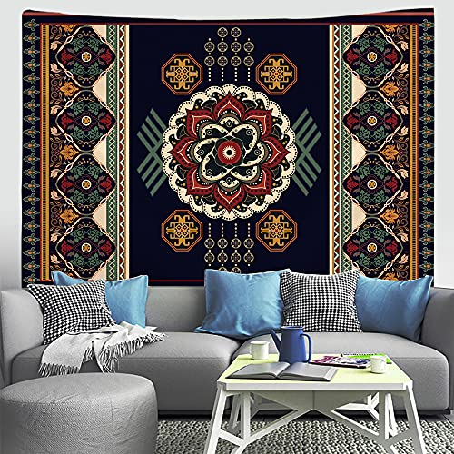 ydlcxst Tapestry Indian Hippie Bohemian Mandala Retro Pattern Home Decor Tapestry Psychedelic Living Room Bedroom Wall Decoration 150X150Cm /8100