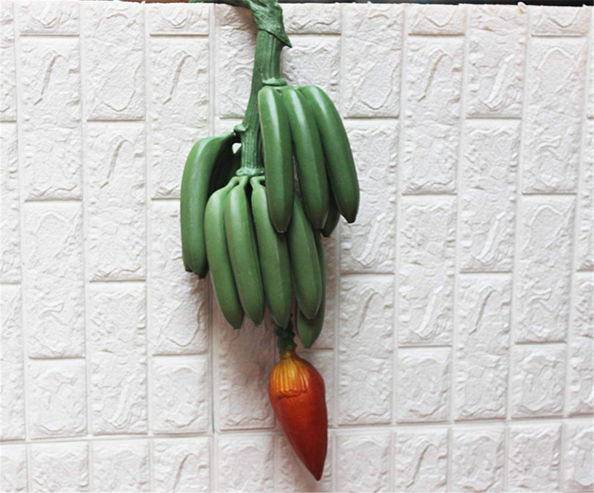 Zzooi Artificial Whole Bunch オンラインショップ of Bananas with Bud and Stem 好評受付中 Fruit
