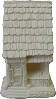 Christmas Village Market (Store) ~ Unpainted Ceramic Bisque ~ Hand Poured in The USA
