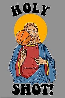 Holy Shot! Basketball Jesus Funny Cool Huge Large Giant Poster Art 36x54