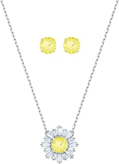 Crystal Yellow Sunshine Necklace and Earring Set