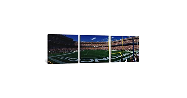 iCanvasART 3-Piece Mile High Stadium Canvas Print by Panoramic Images 0.75 by 36 by 12-Inch