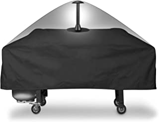 SunPatio Outdoor Grill Griddle Cover, Heavy Duty Flat Top Griddle Station Cover, Fits Blackstone 36 Inch Grill Griddle and More, Waterproof Sealed Seams, Fade Resistant, Come with 12 Inch Support Pole