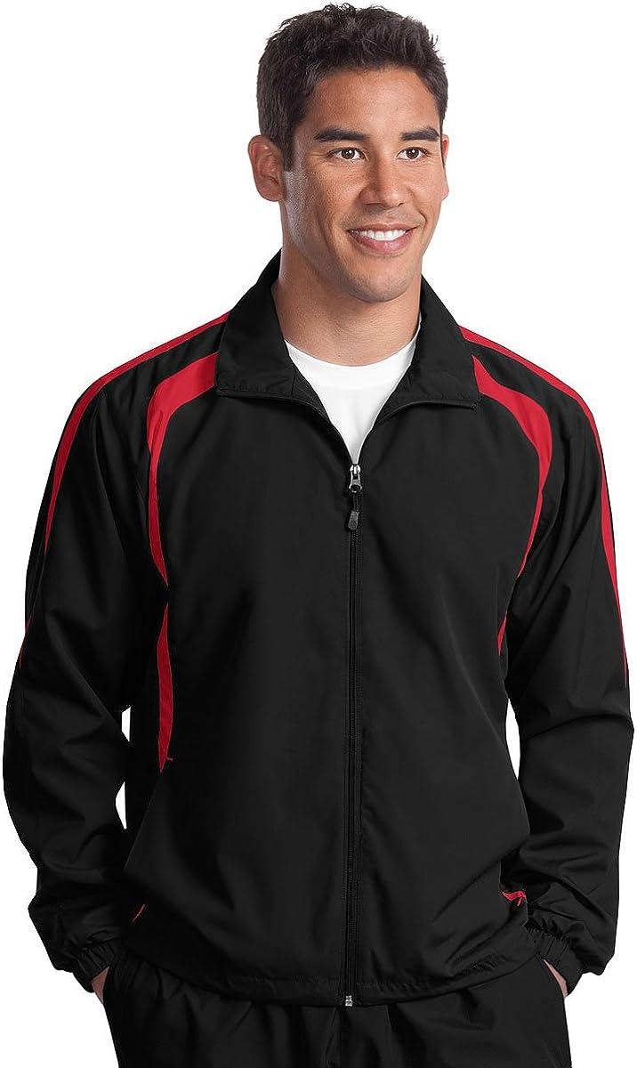 Sport-Tek Colorblock Full-Zip Jacket Red True gift Safety and trust Black 4XL