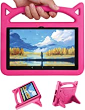 Tablet Case New Kids Shock Proof Protective Stand Case with Handle for 7 Inch Kindle Fire HD Display Tablet iPad (Blue)
