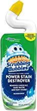 Scrubbing Bubbles Toilet Bowl Cleaner and Power Stain Destroyer, Removes Limescale, Hard Water, and Stains. Extended Neck to ensure Freshness, Rainshower Scent, 24 oz