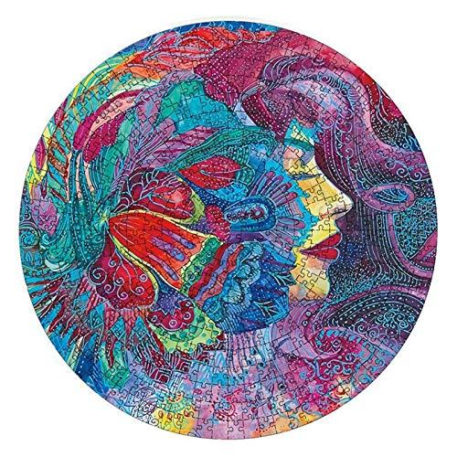 AIflyMi Rompecabezas de Hadas de Flores para Adultos 500 Piezas Puzzle Puzzle DIY Circular Puzzle Game Difícil y desafiante Juego Educativo Intelectual