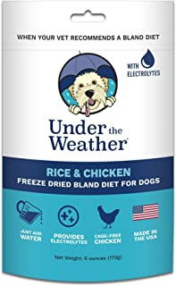 Under the Weather Pets | Easy to Digest Bland Dog Food Diet, Sick Dogs Sensitive Stomachs - Electrolytes - Gluten Free, All Natural, Freeze Dried 100% Human Grade Meat