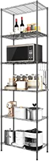 Devo 6-Shelf Wire Shelving Unit Storage Adjustable, Metal Storage Shelves Heavy Duty, Steel Organizer Rack for Kitchen/Gar...