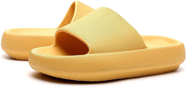 OCIOVAN Pillow Slides Slippers for Women and Men, Non-Slip Massa
