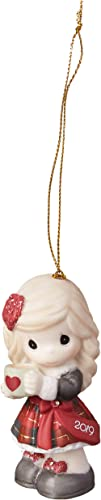 Precious Moments Heart Warming Christmas 2019 Dated Bisque Porcelain 191002 Ornament, One Size, Multi