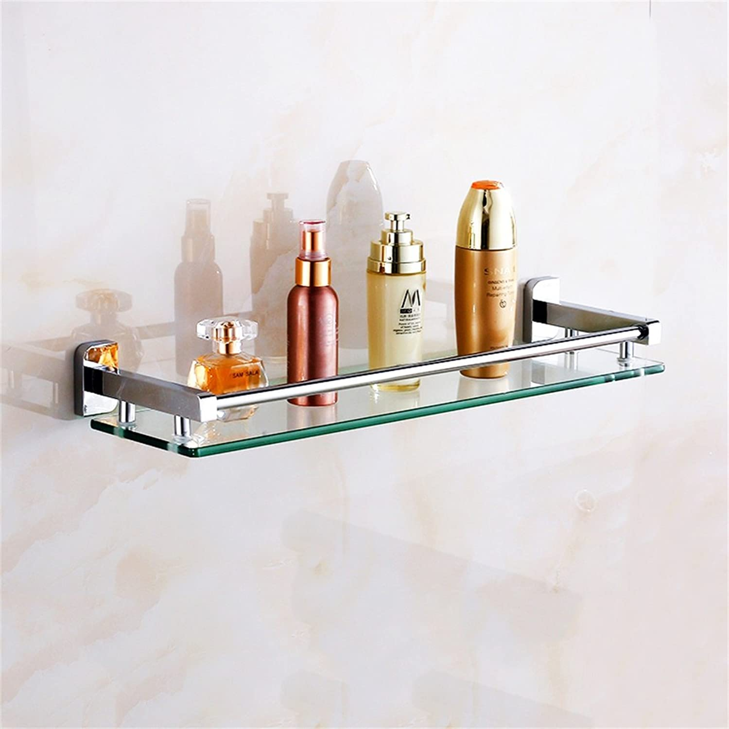 Cpp Shelf Bathroom Shelf Bathroom Shelf Glass Bathroom Wall mountings Safety Rounded Corners (Size   41  12cm)