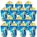 Qemsele Bolsas de Palomitas de maíz, 30 Cajas de Palomitas de maíz contenedores de Palomitas de maíz para Fiestas de cumpleaños, Noches de Cine, Carnaval, Teatro y Regalos de Fiesta (Frozen)
