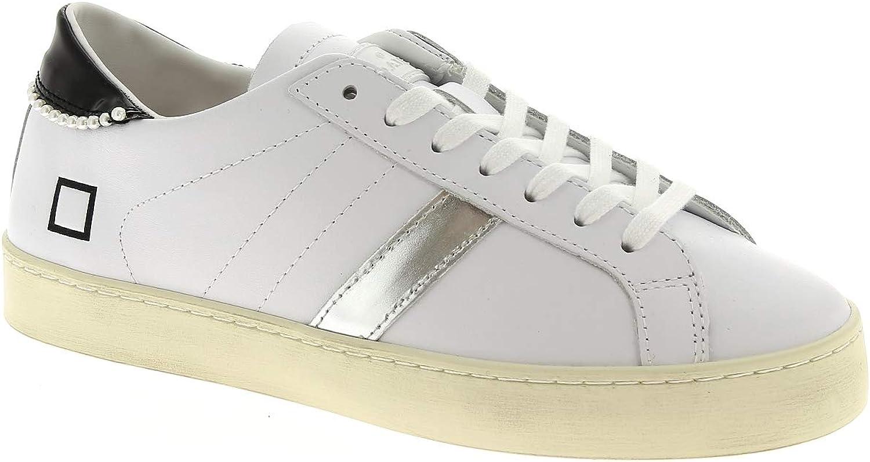 D.A.T.E. Woman's Sneaker Hill Low in Pelle white E Perle 39(EU) - 8(US) White