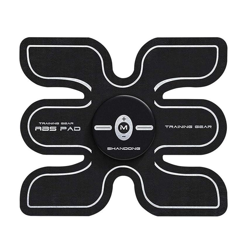 フィットネス薄いベルト、ボディビルディング腹部ベルト筋肉腹部トレーナー腹部カラーベルト簡単フィットネスエクササイザ腹筋トナートレーナー腹部サポートベルトジムトレーニングエクササイズマシン (Color : BLACK, Size : 17.8*15.2CM)