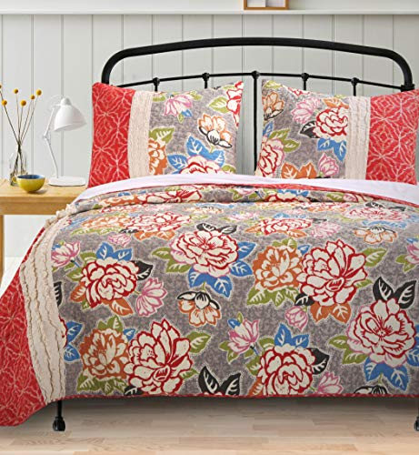 Barefoot Bungalow Gypsy Rose Quilt Set, Full/Queen, 4 Piece