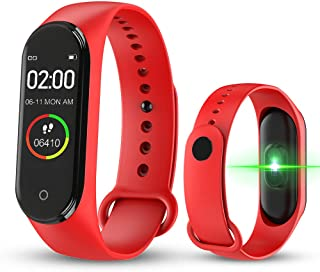 SIWEI M4 - Reloj de pulsera inteligente deportivo con pantalla a color de 0,96 IPS con frecuencia cardíaca, contador de calorías