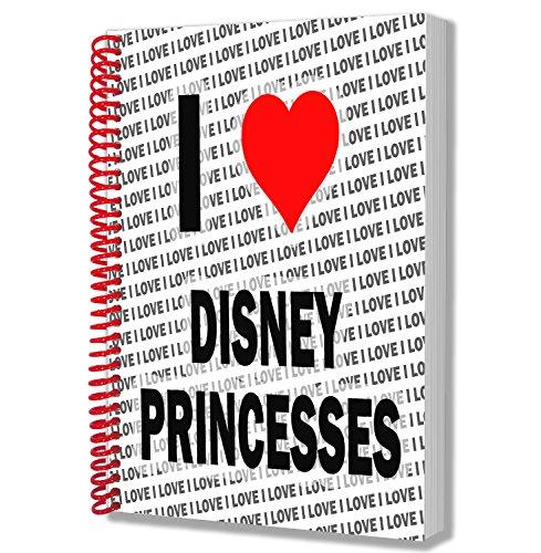 Ik hou van Disney prinsessen - A5 Notebook - Kladblok - Verjaardag - Kerstmis - Gift