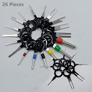 26 Pack Electrical Terminals Removal Key Tool Kit Electrical Removal Puller Connectors Terminal Extractor Wiring for Most Connector Terminal Tools Set