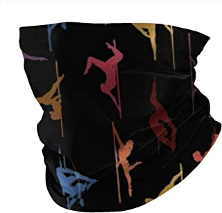 Lsjuee Pole Dance Colors Bandane Scaldacollo Coprispalle Coprispalle Sciarpa Passamontagna per Donna Uomo Polvere All'aper...