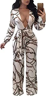 7fe18c53a00 Wide Leg Jumpsuits for Women Sexy Elegant Long Sleeve Jumpsuit Rompers  Floral Pant Suits