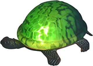 NOSHY Premium Tiffany Style Turtle/Tortoise Table/Accent Lamps/Night Lights, 8