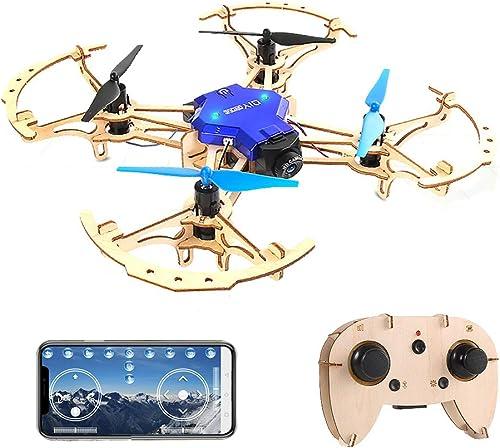 punto de venta Goolsky- ZL100 ZL100 ZL100 Aviones de Madera DIY Drone con cámara 480P WiFi FPV Altitud PanTalla de Control Modo sin Cabeza Capacitación educativa Quadcopter  lo último