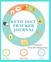 Keto Diet Tracker Journal: A 90 Day Daily Ketogenic Macros, Food And Exercise Fitness Diary Planner, Diet Record Log Notebook And Weight Loss ... Calendar To Help You Reach Your Body Goals