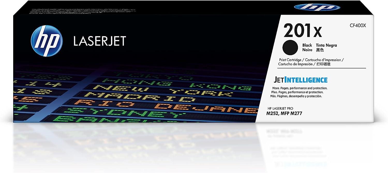 HP 201X | CF400X | Toner-Cartridge | Black | Works with HP Color LaserJet Pro M252dw, M277 series | High Yield