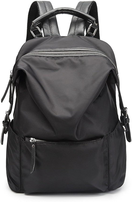 Eastery Handtasche Oxford Large Capacity Rucksack Reise Student Tasche Rucksack Taschen Einfacher Stil Damen Mnner Handgepaeck, (Farbe   Schwarz, Größe   One Größe)
