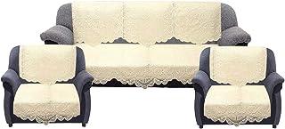 Kuber Industries™ Cream 5 Seater Net Sofa Cover Set -10 Pieces (Exclusive Design)