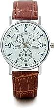 Relojes para Hombres Reloj de Cuarzo con Correa de Vidrio Azul para Hombre Novedad para Hombres Relojes para Hombres