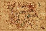 Pyramid International - Póster (61 x 91,5 cm), diseño de mapa del mundo de Hyrule
