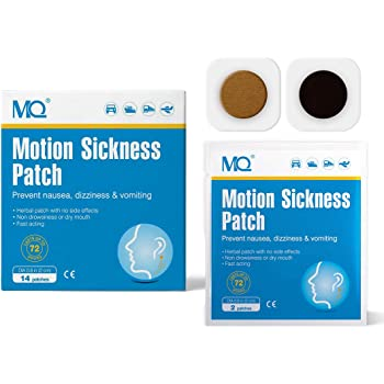 MQ Motion Sickness Patch for Car and Boat Rides, Cruise and Airplane Trips  - Relieves Nausea, Dizziness & Vomiting from Seasickness, Fast Acting and  No Side Effects (14 Count): Amazon.co.uk: Health &