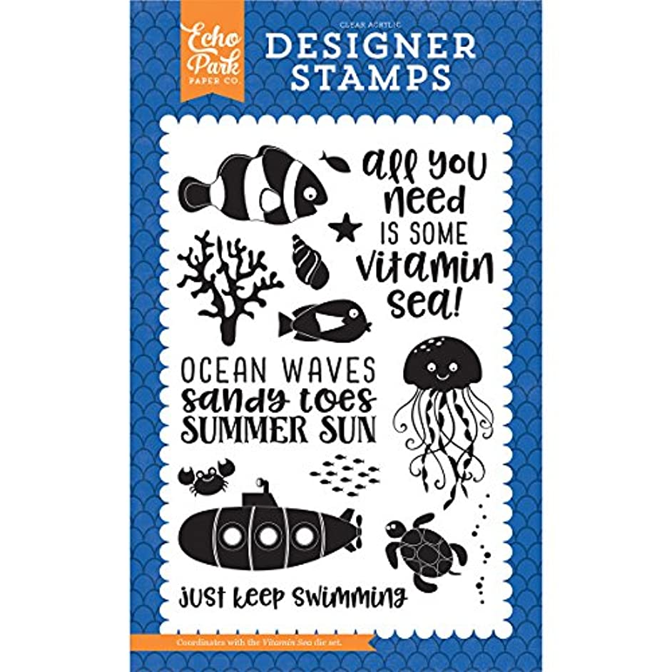 Echo Park Paper Company Vitamin Sea 4X6 Stamp