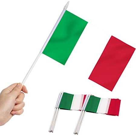 "ITALY MINI FLAG small 9/""x6/"" 22cm x 15cm POLYESTER with sleeve Projects"