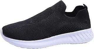 Chaussures Femme Ete Pas Cher Soldes Baskets Basses Running Jogging Sport Confortable Respirant Mesh Chaussette Fille Tenn...
