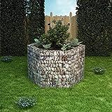 FAMIROSA Arriate Hexagonal de gaviones 160x140x100 cm