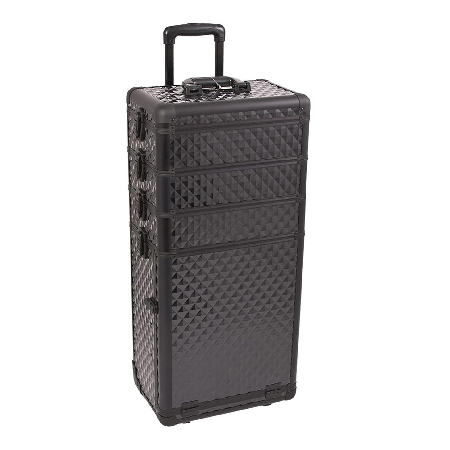 Craft Accents I3363 Diamond Trolley Craft/Quilting Storage Case, Black