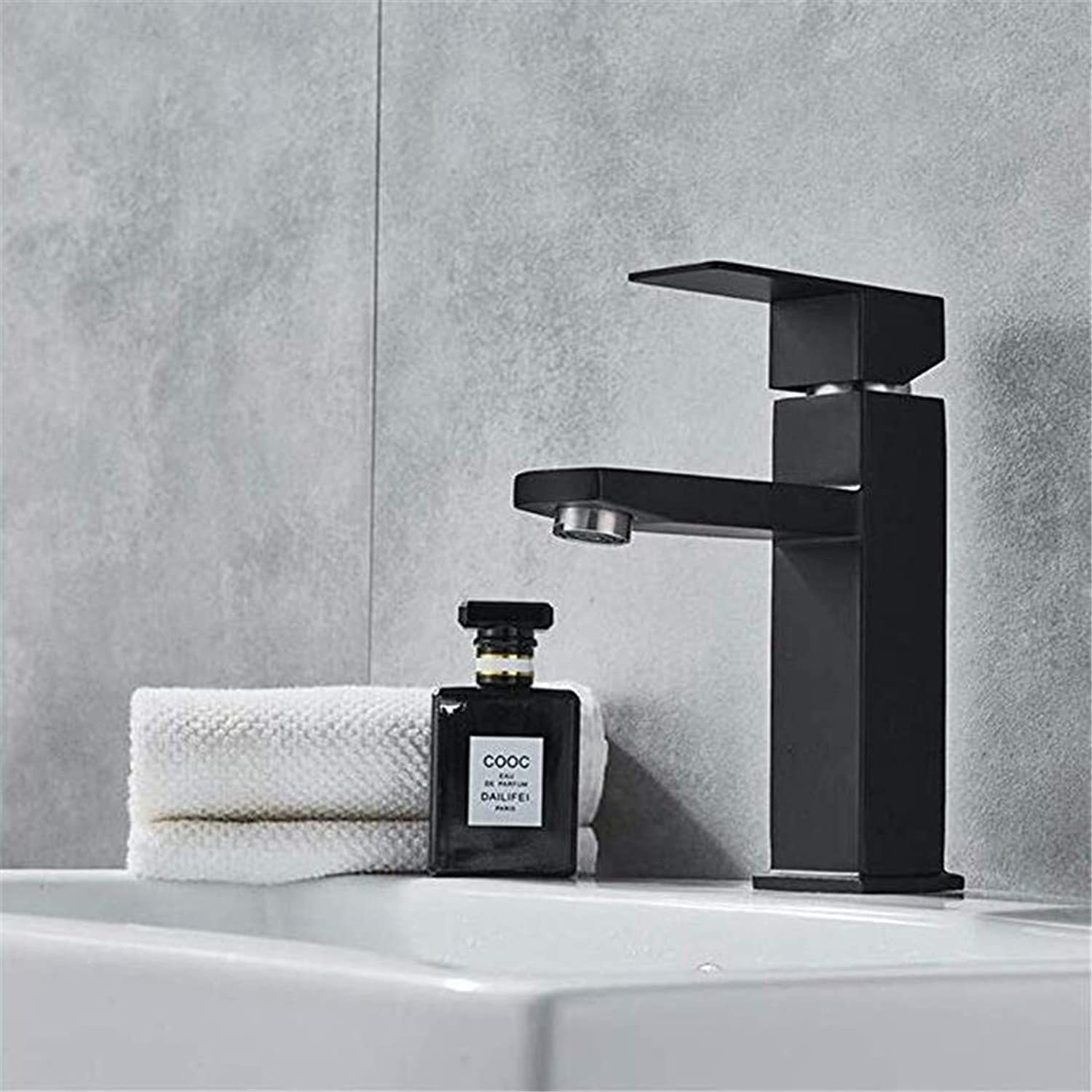 Luxury Modern Hot and Cold Faucet Vintage Platingfaucet Lavatory Sink Basin Mixer Taps Deck Mounted Single Handle Single Hole Cold and Hot Mixer
