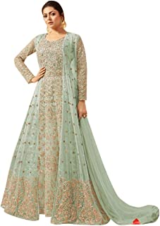 Designer Indian Ethnic Long Heavy Anarkali Salwar Kameez Suit Jacket Style Party Wear 7359